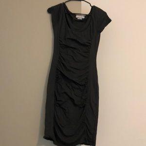 Velvet brand grey ruched dress